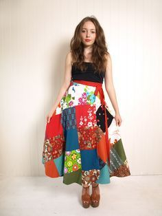 How to sew a reversible wrap skirt in only one hour without a pattern. Tutorial by Kitschbitsch (Australia)