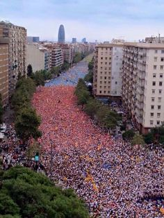 Barcelona  11/9/2015  Via Catalana  by Òmnium Cultural. Ho hem tornat a fer. #ViaLliure11S