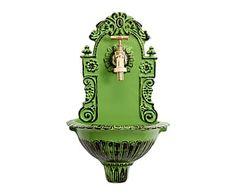 Fuente de pared en hierro fundido - verde