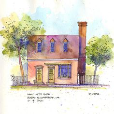 Mary Stith House by Don Gore (dgdraws), via Flickr