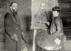 Emma Nessi, allieva dello studio privato di Cesare Tallone
