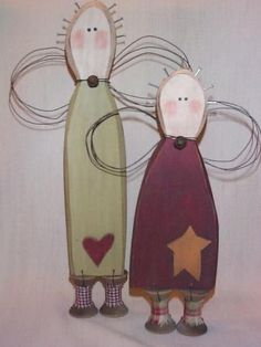 Betsy and Annie Spool Angels-