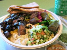 Portobello Mushroom and Falafel Plate (request laffa in lieu of pita), Garbanzo Mediterranean Grill, (Aliso Viejo, CA) #vegan