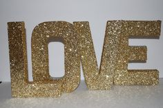 gold glittery letters....her name