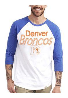 028a22c3e Junk Food Clothing Denver Broncos Mens White All-American Raglan Fashion  Tee New England Patriots