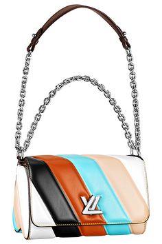 Louis Vuitton -Leather Flap Bag w Chain Strap,  2015