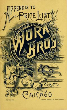 """""""Work Bros"""". We love it old school. Ornate #typography of the 19th century by King George. #Vintage 