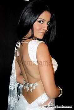 @CelinaJaitley in Gorgeous open back #Saree Blouse