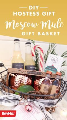 With Christmas celebrations and holiday events filling your calendar, being prepared with thoughtful—and simple—hostess gifts is always a good idea! And what could make a better present than gifting all the ingredients and essentials they'll need to make their very own cocktail?! With these DIY Moscow Mule Gift Baskets, you can spread the festive cheer to neighbors, friends, and coworkers by picking up everything you'll need at BevMo! or BevMo! online!
