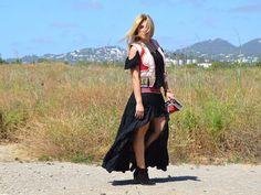 Asimetrik Skirt by @freeloveibiza Look Judit falda gypsy chaleco tribal