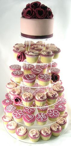 Shabby Chic Wedding Cupcake Tower by Fair Cake, via Flickr
