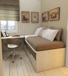 Check Out 30 Space Saving Beds For Small Rooms. A small bedroom can present big…
