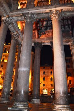 The Pantheon at night, Rome Italy