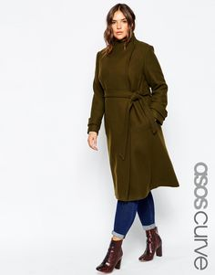 eec08b6d6ef olive trench Plus size Trendy Plus Size Coats