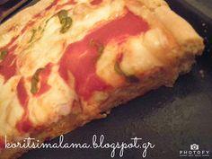Κορίτσι Μάλαμα: Η ψωμένια πίτσα μας!! Recipe Box, My Recipes, Greek, Mom, Greek Language