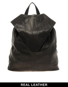 Enlarge ASOS Leather Backpack With Pointed Flap
