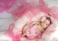 Daegu Children Photographer :: Baby Phases and Stages | book a session at www.creativostoa.com  PHOTO-SHOOT - 3 months old Hawaiian baby girl wrapped in pink tule. Indoor Studio Session. Daegu, South Korea Baby Photographer