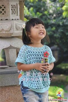 Delicadezas en crochet Gabriela: Patrón de blusas de niñas.
