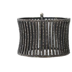 Yossi Harari Large Lilah Corset Cuff ($28,510) ❤ liked on Polyvore featuring jewelry, bracelets, pave diamond bracelet, yossi harari jewelry, cuff jewelry, bracelet bangle et cuff bangle