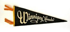 Vintage pennants just in! This one's for Winnipeg.....
