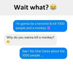 Funny Text About People vs. Monkeys <<<Sorta funny but. Funny Texts Jokes, Text Jokes, Funny Text Fails, Funny Text Messages, Crazy Funny Memes, Really Funny Memes, Stupid Funny Memes, Funny Laugh, Funny Relatable Memes