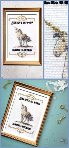 Just adore this funny cross stitch pattern, who doesn't love unicorns!