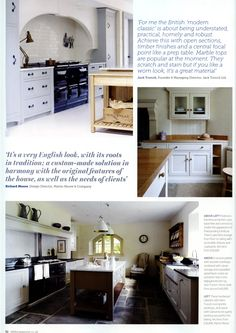 Classic English kitchens from Martin Moore martinmoore.com Essential Kitchen Bathroom Bedroom November 2014