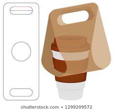Box packaging die cut template design – Design is art Coffee Shop Logo, Coffee Shop Design, Cafe Design, Box Design, Coffee Packaging, Box Packaging, Food Packaging Design, Coffee Cups, Diy And Crafts