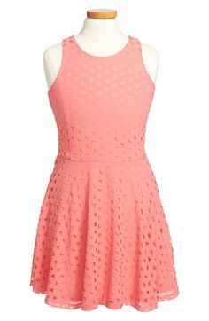 Elisa B 'Cut It Out' Sleeveless Skater Dress (Big Girls) available at #Nordstrom