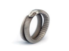 Snake Ring (various sizes) 3d printed Jewelry Gift Guide Silver Glossy