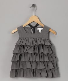 Flannel Gray Ambrosia Tiered Top by Neige