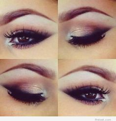 Pink and black – Eye makeup
