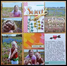 Project Life by Stampin' Up pages created by Erica Cerwin. Also features Blendabilities and Peaceful Petals