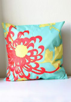 "Marietta Floral Outdoor Pillow Case By Env Bags 13.99 at shopruche.com. This outdoor pillow case features a vibrant floral print and a sun and water resistant nylon fabric.  , , 100% Polyester,  18""L x 18""W"