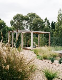 Australian Garden Design, Australian Native Garden, Modern Landscaping, Backyard Landscaping, Mid Century Landscaping, Farm Gardens, Outdoor Gardens, Gravel Garden, Bamboo Garden