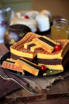 Just Try & Taste: Resep Cake Lapis Surabaya - Moist, lembut, yummy! Indonesian Desserts, Asian Desserts, Indonesian Food, Pastry Recipes, Baking Recipes, Cake Recipes, Coconut Desserts, Frozen Desserts, Food Cakes