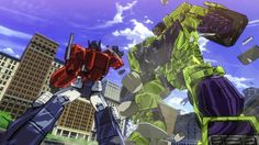 cel shaded transformers devastation video game coming from activision