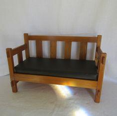 Wood Doll Couch Vinyl Cushion Vintage by rarefinds4u on Etsy How To Antique Wood, Vintage Wood, Etsy Vintage, Vintage Items, Corner Moulding, Old Lights, Old Farm Houses, Ceiling Fixtures, Wood Doors