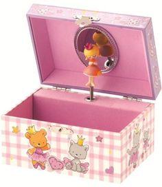 Cute Gingham Children S Musical Jewellery Box