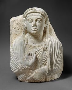 Gravestone with bust of a woman 2nd century AD Syria (Palmyra) limestone Metropolitan Museum of Art, 01.25.1