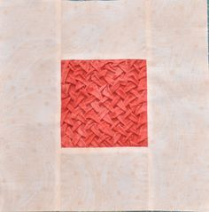 Block 13: Lattice smocking – Textured quilt sampler