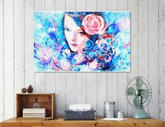 """""""Artistic VI - Girl Floral / NE"""", Numbered Edition Canvas Print by TMarchev - From $69.00 - Curioos"""