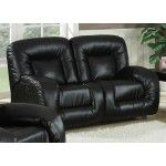 AC Pacific Furniture - Bruno Double Reclining Sofa in Black - JYQ1027-BLK  SPECIAL PRICE: $939.79