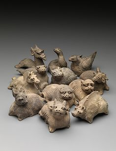 A Set of Twelve Earthenware Animals of the Zodiac, Yuan Dynasty, late 13th-early 14th century. Photo: Kaikodo.