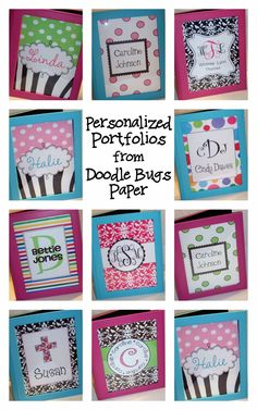 Doodle Bugs Teaching {first grade rocks!}: Giveaway: Personalized Portfolio