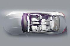 Mercedes-Benz S-Class Coupe Concept - Interior Design Sketch