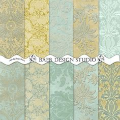 Hey, I found this really awesome Etsy listing at https://www.etsy.com/listing/166602298/tiffany-blue-and-gold-damask-and-lace