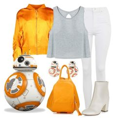 BB-8 by waywardfandoms on Polyvore featuring polyvore fashion style Topshop New Look Disney Hallmark Boohoo clothing casual starwars