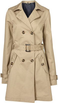 Tall Piped Trench Coat
