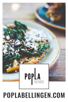 Popla Bellingen's socca - a vegetable topped chickpea pancake. This vegetarian dish has been served for years at Popla's big sister restaurant, Bloodwood in Newtown, Sydney. Newtown Sydney, Chickpea Pancakes, Sisters Restaurant, Vegetarian Dish, Curry, Dishes, Dining, Vegetables, Big